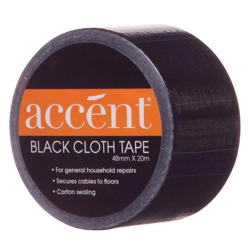 Accent® Cloth Tape Black 48mm x 20m
