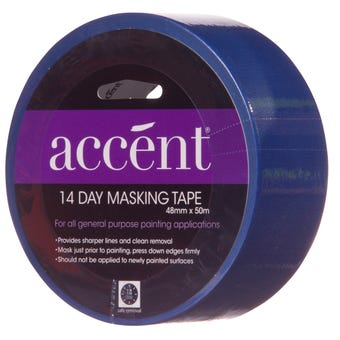 Accent® 14 Day Masking Tape 48mm x 50m