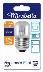 Mirabella Globe Appliance T25 ES Clear 25W