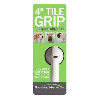 "Bridge Medical 4"" Tile Grip Telescoping Portable Grab Bar 38-46cm"