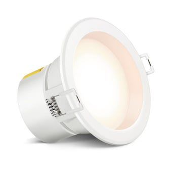 HPM Dli Led 7W Downlight Warm White White Finish 90Mm Non Dim