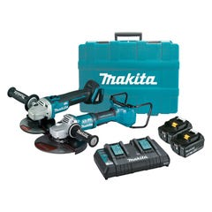 Makita 18V 2 Piece Brushless Grinder Combo Kit DLX2251PT