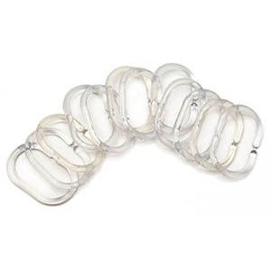 Supertex Shower Curtain Rings Clear 12 Pack
