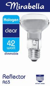 Mirabella Halogen Reflector Globe R63 ES Clear 42W