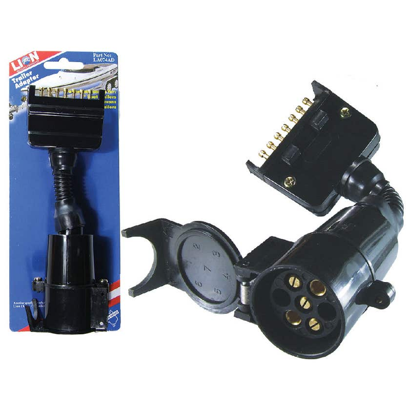 Lion 7 Pin Flat to 5 Pin Round Trailer Adaptor