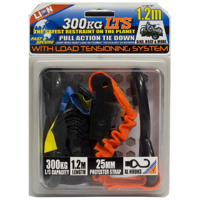 Lion LTS 25mm x 1.2m Pull Tie Down
