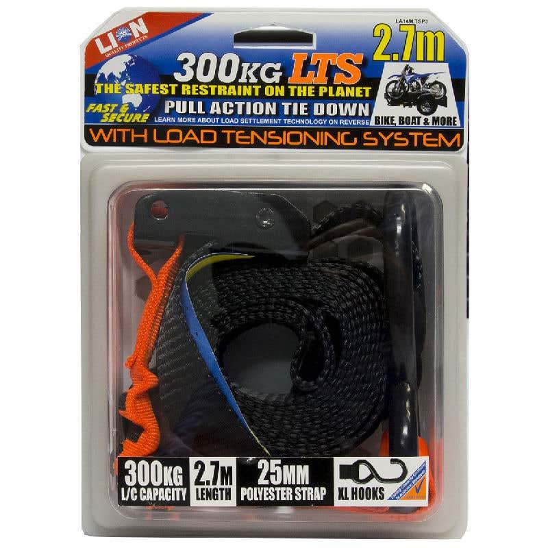 Lion LTS 25mm x 2.7m Pull Tie Down