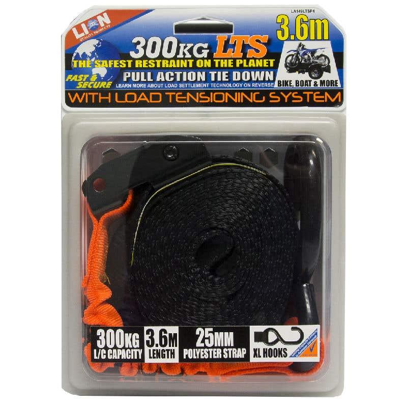 Lion LTS 25mm x 3.6m Pull Tie Down