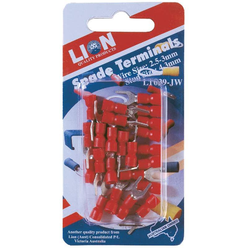 Lion Terminal Spade Red Stud 23 Piece