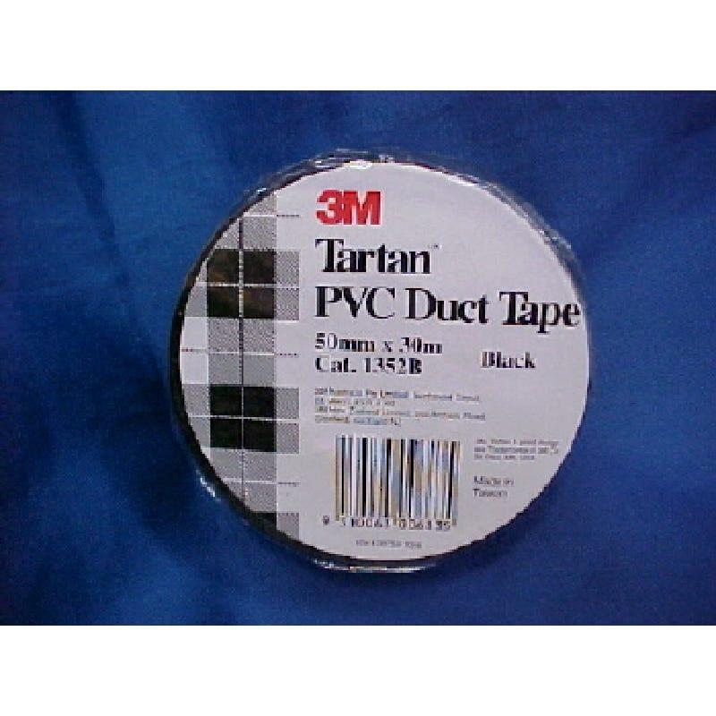 Tartan 50mm x 30m PVC Duct Tape Black