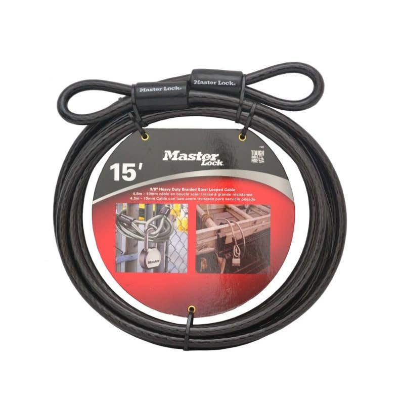 Masterlock Steel Braid Cable Lock 4.6m