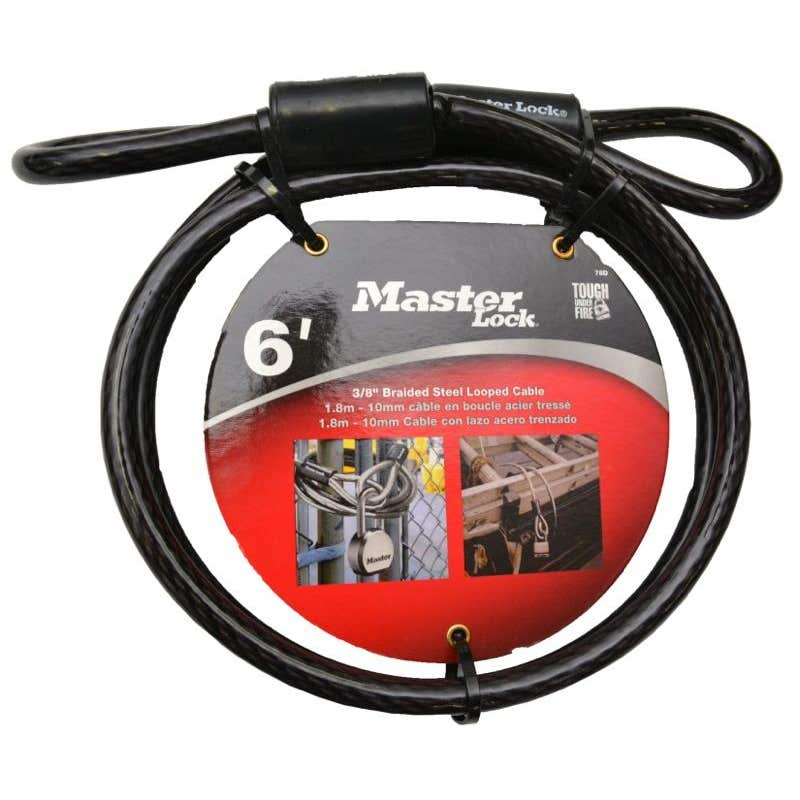 Master Lock Braided Steel Looped Cable 10mm x 1.8m