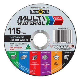 Flexovit Multi Material Cut-Off Wheel 115 x 1 x 22mm