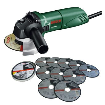 Bosch 670W Angle Grinder with Cutting Discs