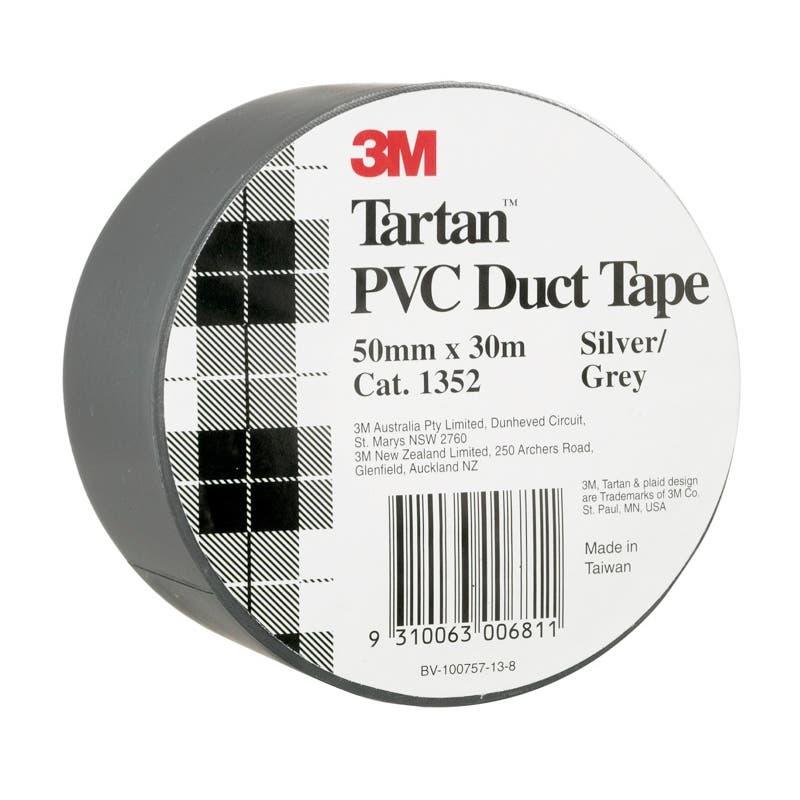 Tartan 50mm x 30m PVC Duct Tape Silver