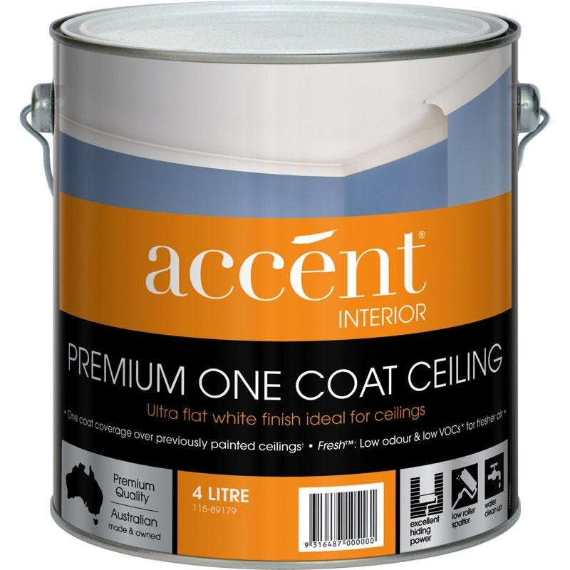 Accent® One Coat Ceiling White 4L