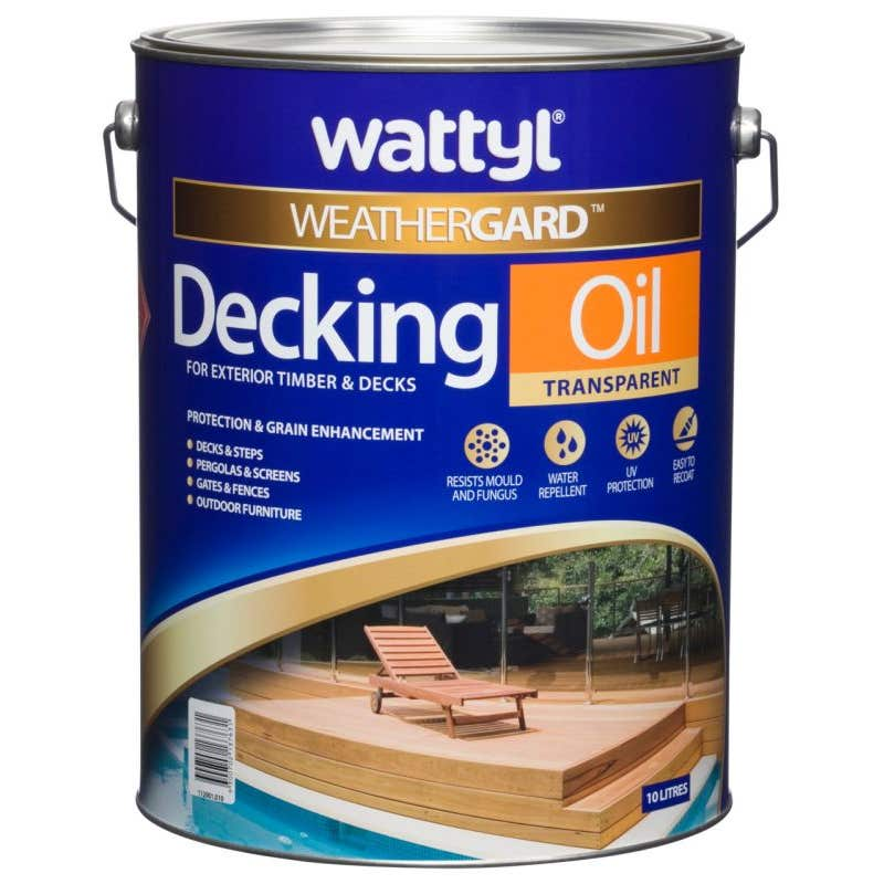 Wattyl Weathergard Decking Oil 10L Natural