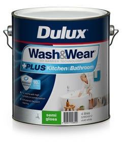 Dulux Wash & Wear Semi Gloss Kitchen & Bathroom 4L