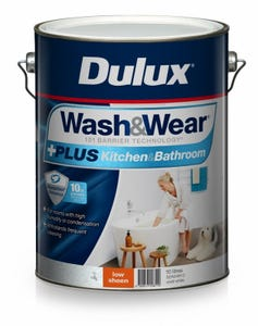 Dulux Wash & Wear Low Sheen Kitchen & Bathroom 10L