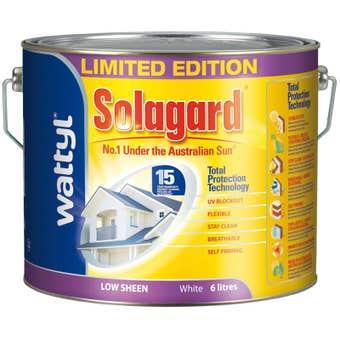 Wattyl Solagard Low Sheen White 6L