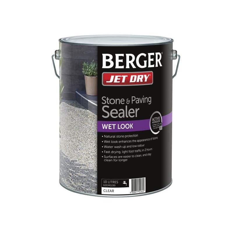 Berger Jet Dry Stone & Paver Sealer Wet Look 10L