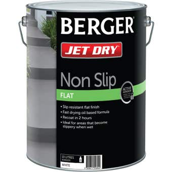 Berger Jet Dry Non Slip 10L White