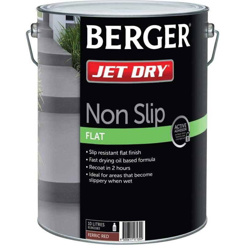 Berger Jet Dry Non Slip 10L Red