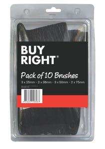 Buy Right® Paint Brush Pack of 10