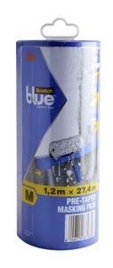 Scotch Blue Pre-Taped Masking Film 1.2m x 27.4m