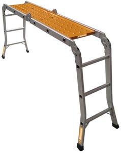 Hurricane 3.7m Multifold Aluminium Ladder with Plank