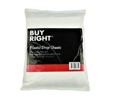 Buy Right® Plastic Drop Sheets Pack of 6