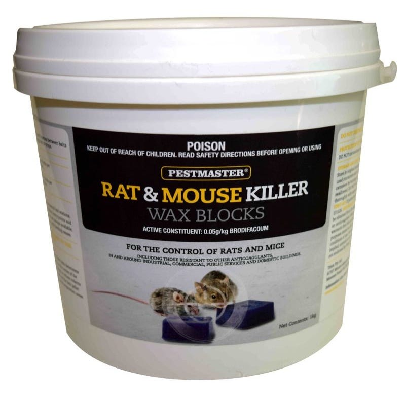 Pestmaster Rat and Mouse Killer Wax Blocks 1kg