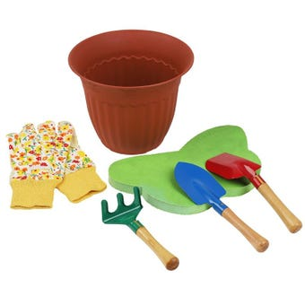 Kids 6Pce Garden Tool Kit