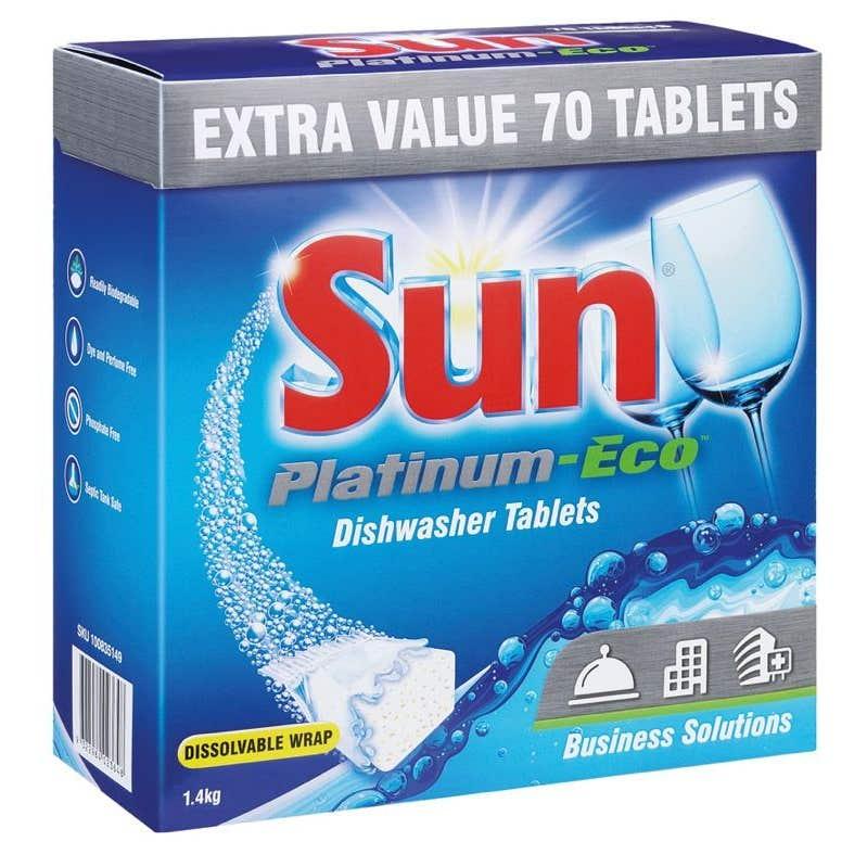 Sun Platinum Eco Dishwash Tablets 70Tb