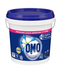 POWDER LAUNDRY OMO FRONT/TOPLOAD 8KG