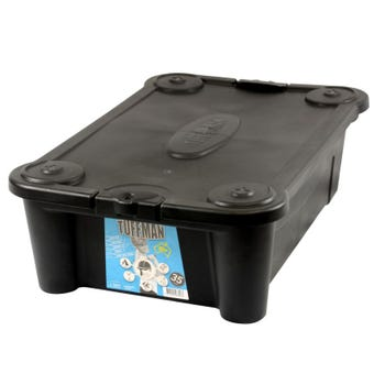 Tuffman Storage Container 35L Black