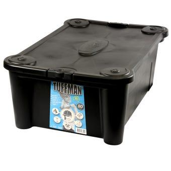 Tuffman Storage Container 80L Black