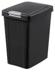 Waste Basket Touch Top 28 L Black Sterilite