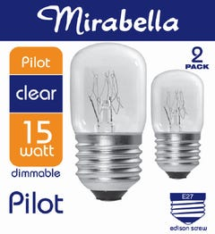 Mirabella Globe Pilot ES Clear 15W Pack of 2