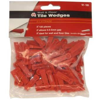 Wedges Tile Red Pk100