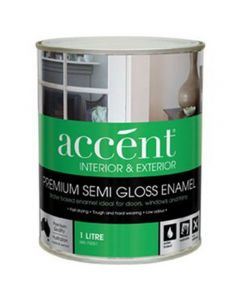Accent® Water Based Enamel Semi Gloss White 1L