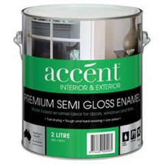 Accent® Water Based Enamel Semi Gloss White 2L