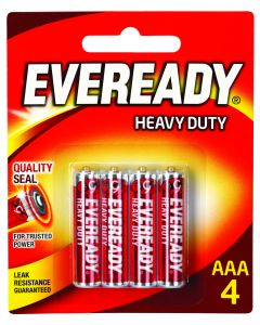 Eveready Battery Heavy Duty Red AAA 4 Pack