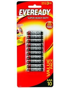 Eveready Battery Super Heavy Duty Red AAA 10 Pack