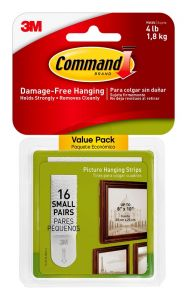 Command Small Picture Hanging Strips 8 Pack 17205