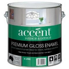 Accent® Water Based Enamel Gloss Extra Deep 4L
