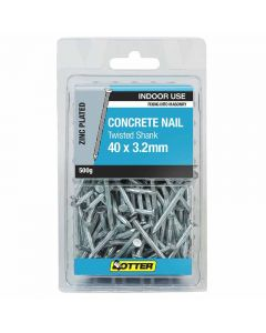 Otter Nail Concrete Fluted Zinc Plated 40x3.20mm (500G)