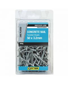 Otter Nail Concrete Fluted Zinc Plated 50x3.20mm (500G)
