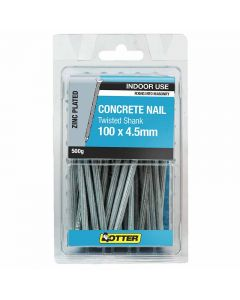 Otter Nail Concrete Fluted Zinc Plated 100x4.50mm (500G)