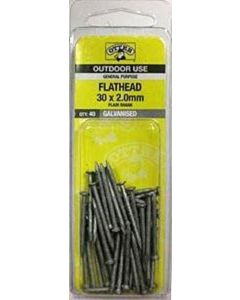 Otter Nail Flathead Galvanised 30x2.00mm (40 Pack)